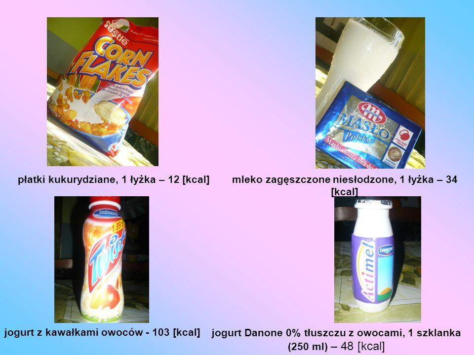 mleko zagęszczone niesłodzone, 1 łyżka – 34 [kcal]